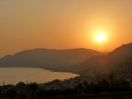 Pefkos Blue: Sunset From Dimitris