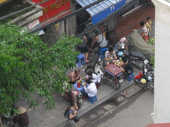 Hanoi Allura Hotel : view from windon, top floo room