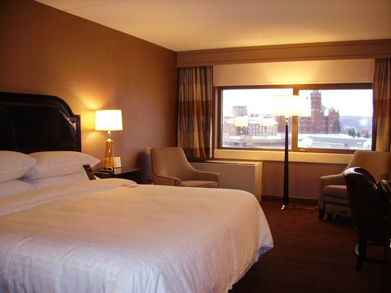 Sheraton Syracuse University Hotel & Conference Center: Renovated Sheraton Syracuse King Bed