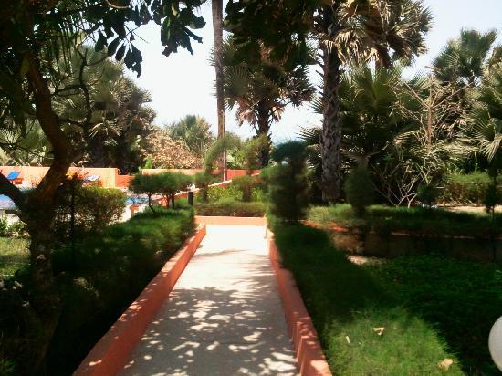 Golden Beach Hotel: Garden view towards pool area
