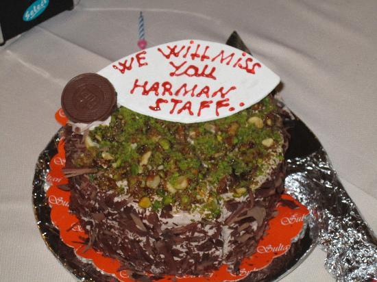 Harman Hotel: Our going away cake