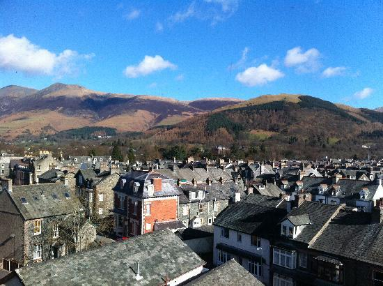 Strathmore Guest House: view from twin room looking over keswick