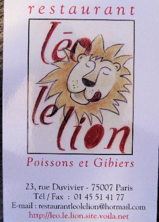 Leo le Lion: Business Card