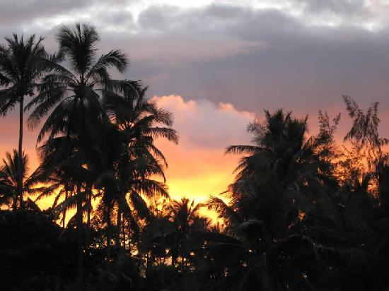 Hale 'Nalo Beach Rentals: Sunrise view from the Zen Treehouse.