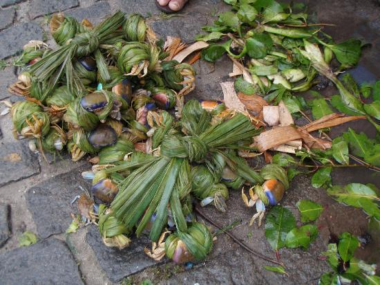 Praia de Subaúma, BA: Verse krabben op de markt