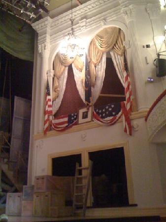 Ford's Theatre: The theater box in which President Lincoln was sitting at Ford's Theater.