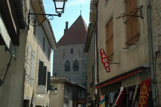 Carcassonne, France : streets inside the walls