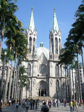 Sao Paulo, SP: Церковь на площади Се