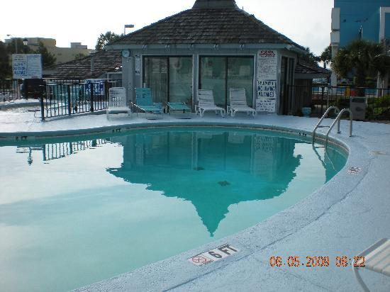 Waikiki Village: The pool and the hot tub  . . .