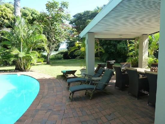 Kingfisher Lodge: Patio with pool