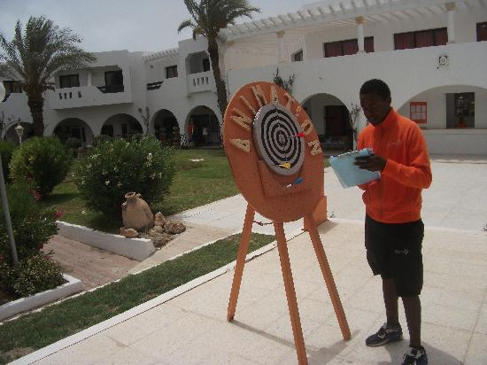 Seabel Aladin Djerba: le jeu de flèchettes