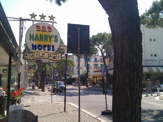Harrys: Side of hotel