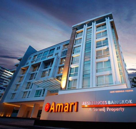 The façade of Amari Residences Bangkok