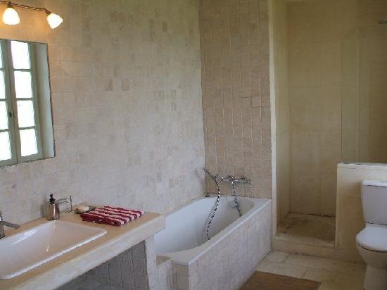 Apartement provence salle de bain avec baignoire et for Baignoire et douche a cote