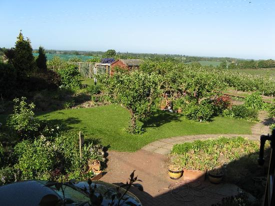 Church Oast : View from our bedroom over the garden