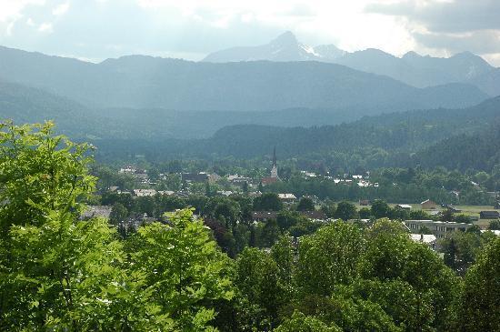 Garmisch-Partenkirchen, Duitsland: Blick auf Garmisch