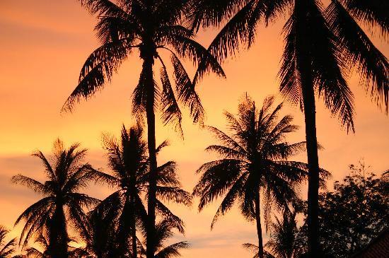Pranburi, Thailand: Great sunset