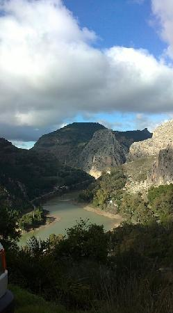The Olive Branch: El chorro view from top of the road