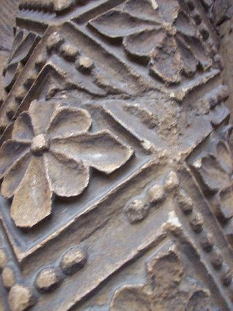 Southwell Minster: close up of carved column