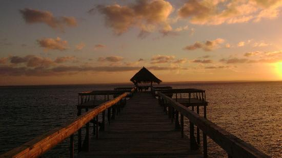 Dugong Beach Lodge: wE ENJOYED PRIVATE DINNERS AT THE END OF THIS JETTY, AMAZING