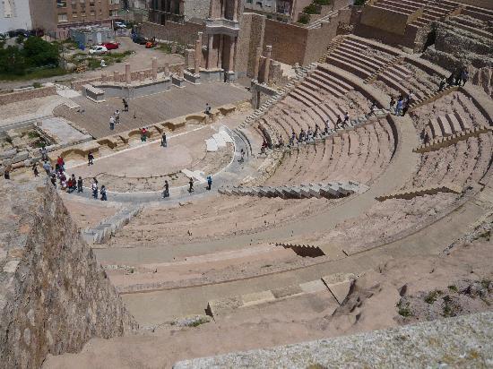Blick ins Römische Theater in Cartagena