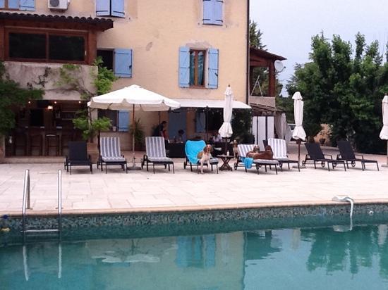 Le Mas Shabanou : Bij het zwembad