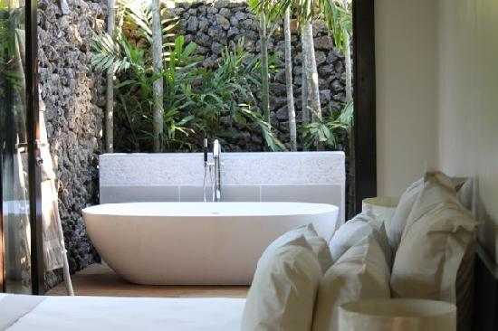 Taveuni Palms Resort: The beautiful outdoor bathoom