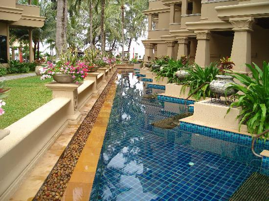 Kata Beach Resort and Spa : Decadence, each ground floor room had its own  pool and chair, push the button and on came your