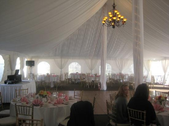 Colonial Hotel: a view of the tent
