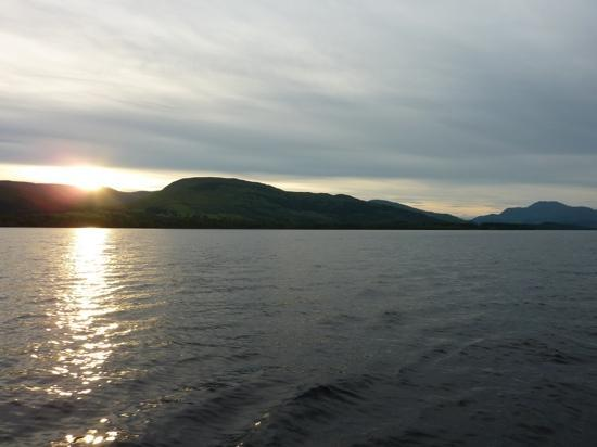 Loch Lomond and The Trossachs National Park, UK: view from my Ebbtide heading back to Cameron House