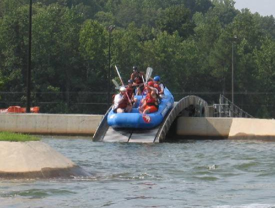 U.S. National Whitewater Center: Conveyor belt to the top of the run