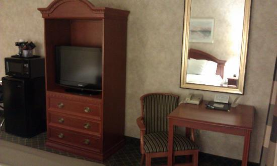 BEST WESTERN Troy Hotel: TV and desk