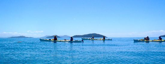 Coral Sea Kayaking: Calm waters, heading out to the Islands