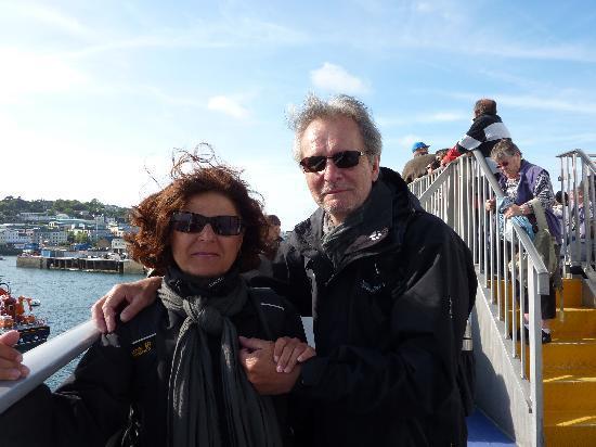 St Martins, UK : Abfahrt von Guernsey