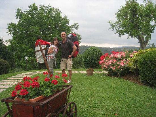 B&B Villa Beatrice: me and a guest ready for paragliding