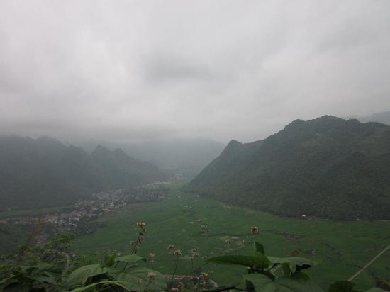 Mai Chau Day Trek: view from the top - looking down onto Mai Chau