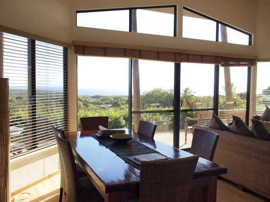 Redgate Beach Escape: Main room, overlooking coast.