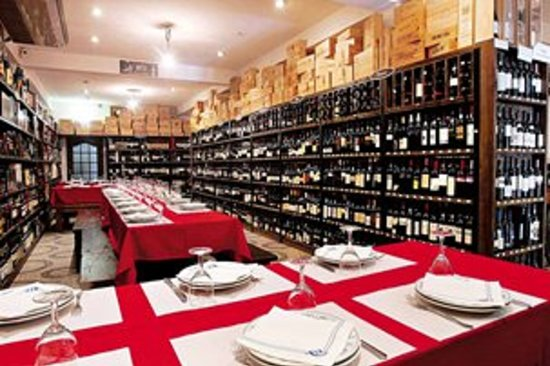 inside the Veneza restaurant (Great wines - not Italian at all, Portuguese food!)