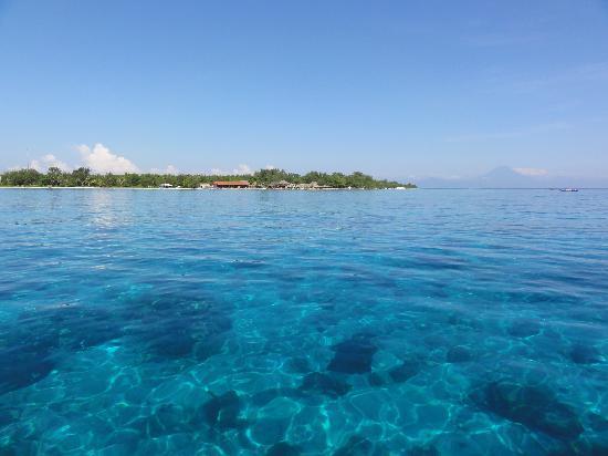 Manta Dive Gili Air Resort: View from the diving boat