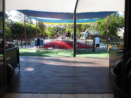 NRMA Treasure Island Holiday Park: Restaurant view to jumping cushion
