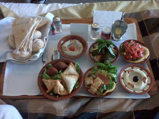 InterContinental Hotel Jeddah: Lunch room service - Mezze Delight!