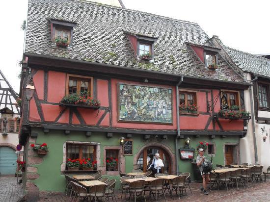 Riquewihr, France : schönes Haus