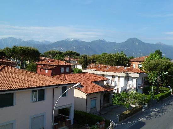 Hotel Fortunella: view from balcony of room 307