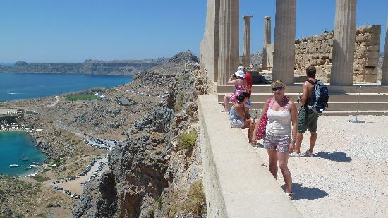 Meliton Hotel: View from Lindos acropolis, a must visit!!