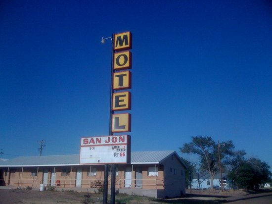 San Jon Motel: The sign needs some work, but Daphne and Norm are great