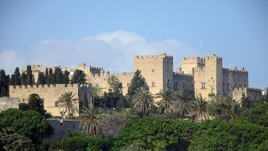 Palace of the Grand Master of the Knights of Rhodes: From afar