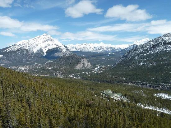Blue Sky Tours: Looking Out from the Gondola Going Up Sulphur Mountain