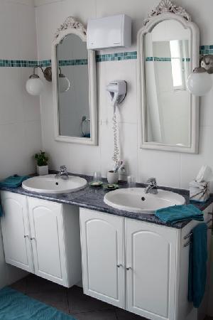 Hotel Villa les Cygnes : Washbasins.