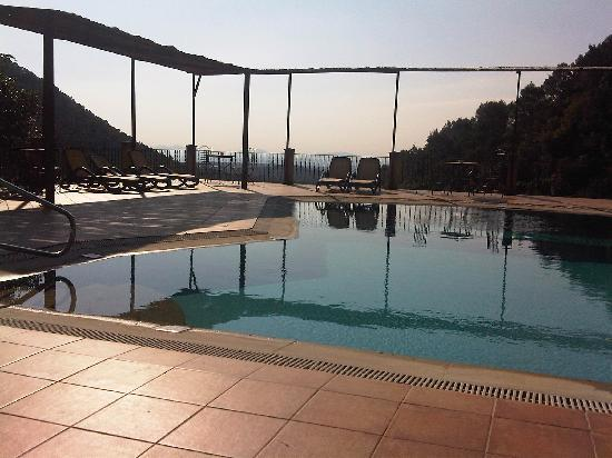 Finca Hotel Albellons Parc Natural: view from the pool