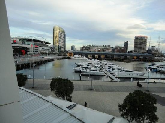 Apartments Melbourne Domain Docklands: View from 201 balcony, Etihad Stadium on left within walking distance